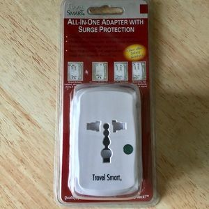 Travel Smart All-In-One Adapter W/Surge Protection